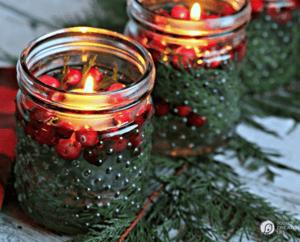 9 DIY Christmas Dinner Displays Candles Image